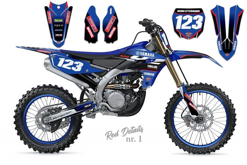 Yamaha komplett dekalkit anpassat till valfri modell. Red Details.