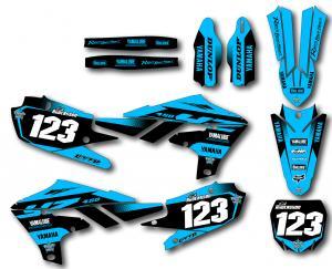 Yamaha komplett dekalkit anpassat till valfri modell. Turquoise.