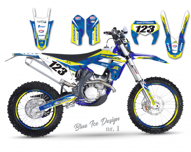 Sherco Ice Blue Design