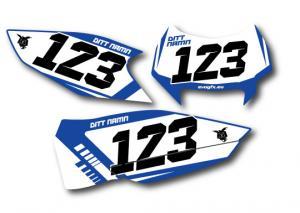 Nr-kit FE och TE 2013, enduro. Blue & White