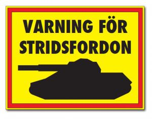 Skylt Stridsfordon