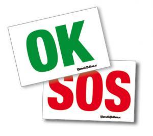 SOS/OKey-skylt