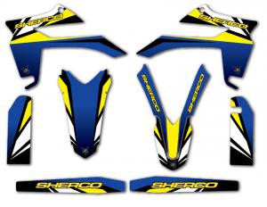 Semikit SE 250-300 2013 Blue & Yellow