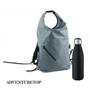 ..Vattenresistent ryggsäck + Stålflaska