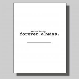 Forever always... Poster