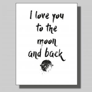 I love you to the moon-2... Poster