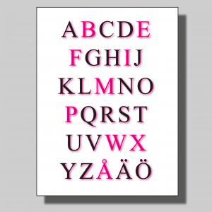 Alfabet rosa... Poster