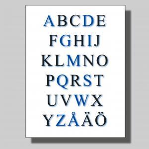 Alfabet blå... Poster