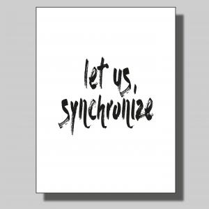 Let us synchronize... Poster