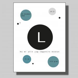 Födelsetavla cirkel.. Poster