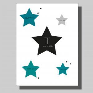 Födelsetavla stjärna.. Poster