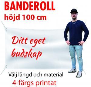Banderoll 1meter i höjd valfri längd