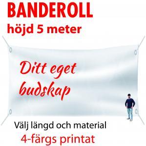 Banderoll 5 meter i höjd valfri längd