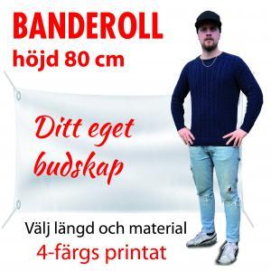 Banderoll 0.8m i höjd valfri längd