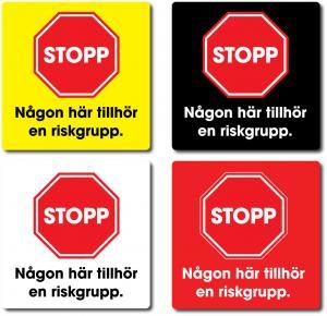 Dekal STOPP/Riskgrupp