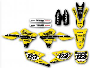 Yamaha komplett dekalkit anpassat till valfri modell. Gul Retro.
