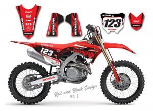 Honda Red & Black Design