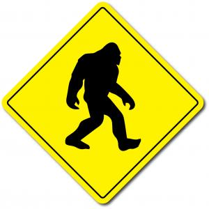 Varningsdekal Bigfoot