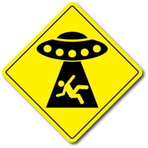 Varningsdekal UFO