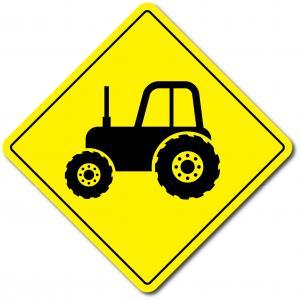 Skylt traktor