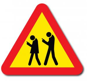 Varningsskylt Smartphone Zombies