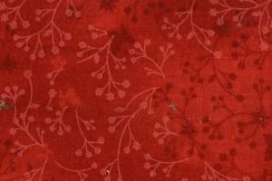 Bomullstryck 140cm Röd kvist
