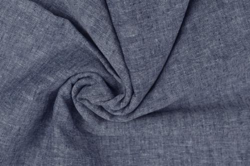 Halvlinne Mellerad blå 55% linne 45% bom 140cm