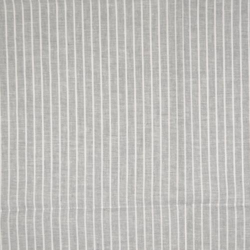 Halvlinne  Grå vit rand 55% linne 45% bom 140cm