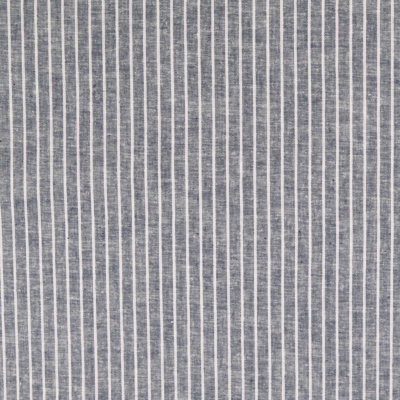 Halvlinne Blå vit rand 55% linne 45% bom 140cm