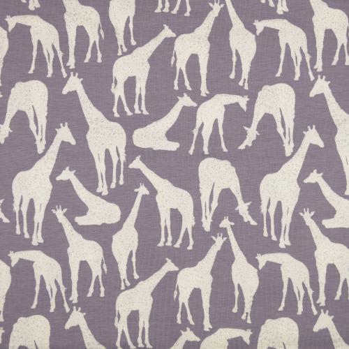 Trikåtyg med giraffer