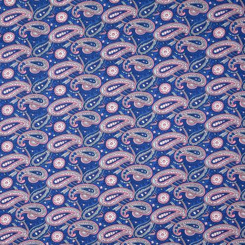 Poplintryck blå  paisley  100 gr
