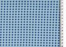 Poplintryck Blå mönstrad