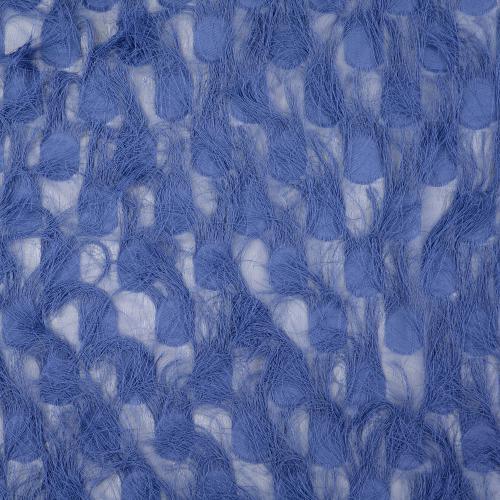 Jacquard marinblå frans 100%PES 140cm