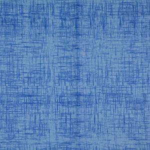 Bomullstryck slubväv 135cm Turkos/blå
