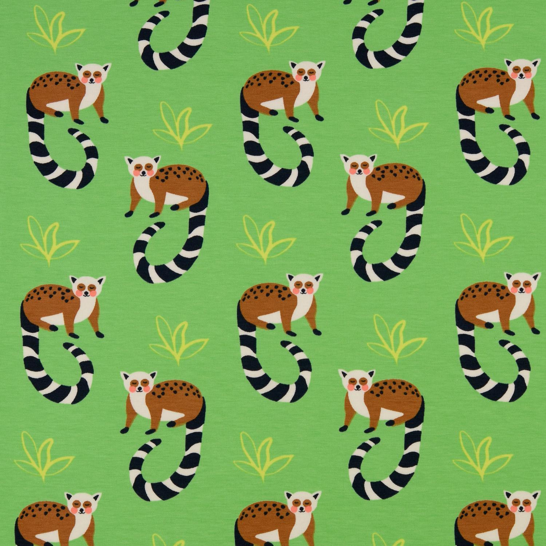 Trikå Grön Lemur 150cm oeko-Tex Org Bom