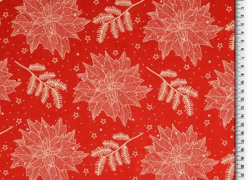 Julblomma röd 135cm 100% Bom