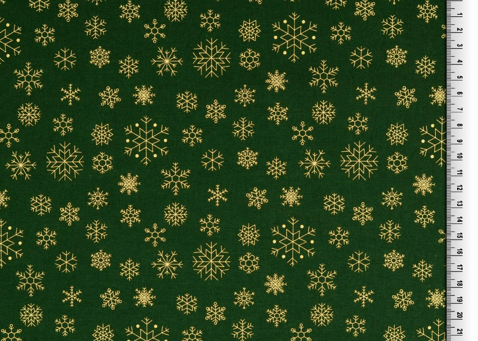 Snöflinga Grön guld Jul 135cm