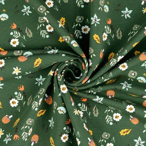 Sweatshirt tryck grön svamp 150cm