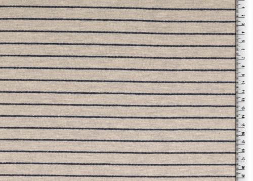French Terry Grå blå rand 160cm