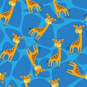 trikåtyg med giraffer , Reactiv