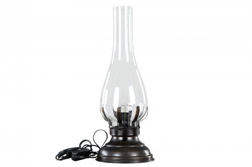 Lampa, antikbrun, el