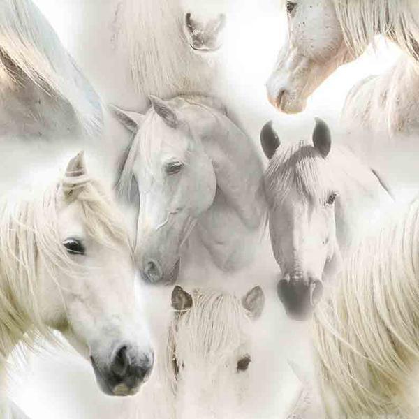 Trikå med Vita Hästar GOTS certifierat