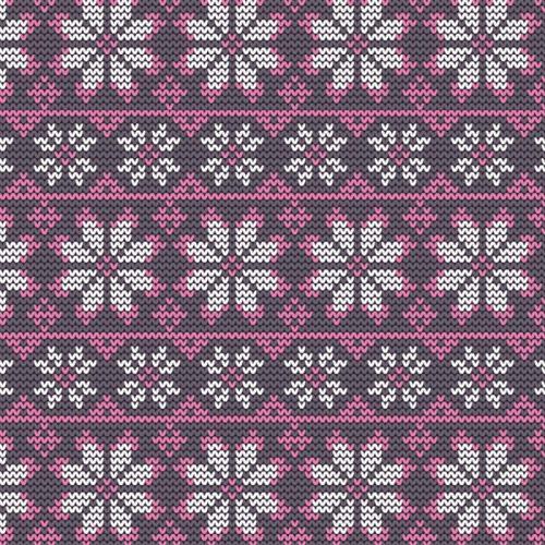 trikå ,Stickad mönster med snöflinga
