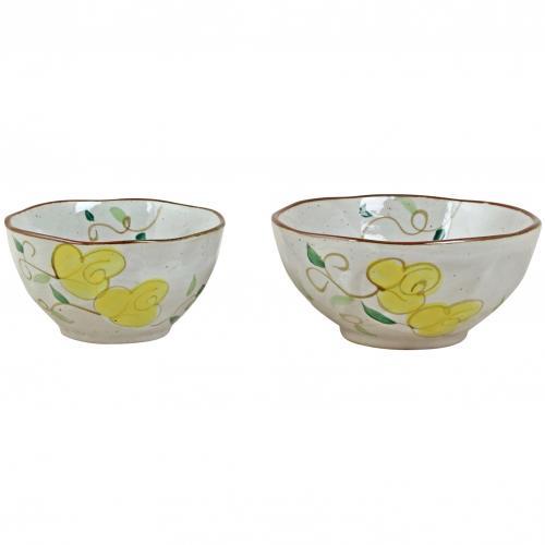 Skål, Landala med gula blommor , liten