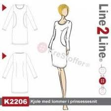 Dress with pockets in the princess seams