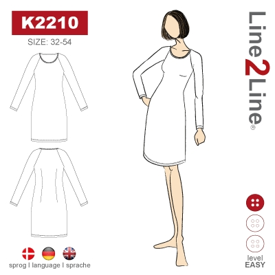 Dress with cutting and pocket flaps, k2216