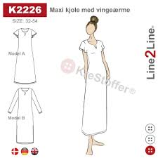 Maxi dress with wing sleeve