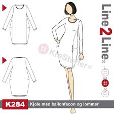 Balloon dress with pockets, K284