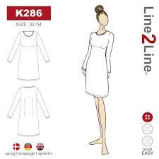 Klänningsmönster Empire skärning K286