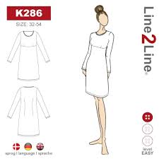 Empire seam dress, K286